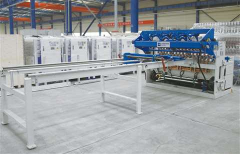 Fence mesh welding production line