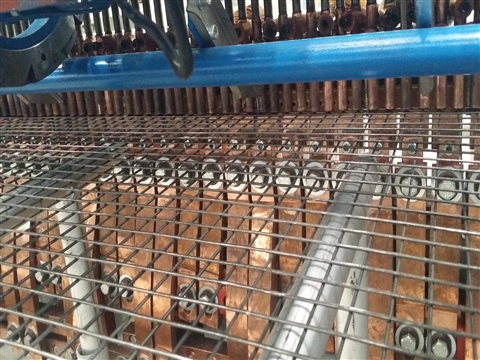 Animal cage welded mesh production line