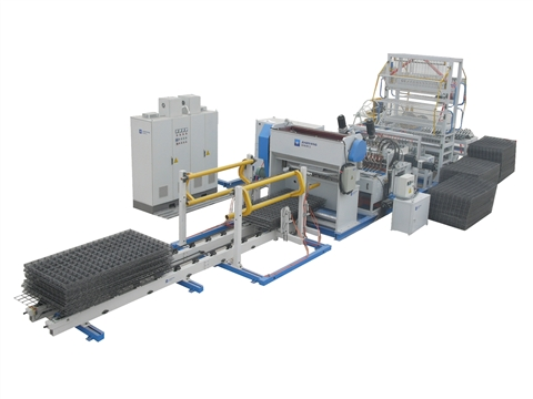 Rebar wire mesh welding production line