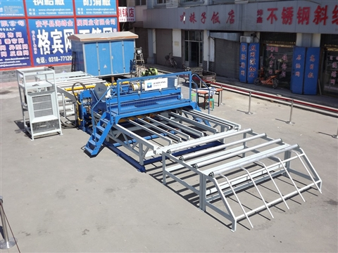 Reinforced steel wire mesh making machine
