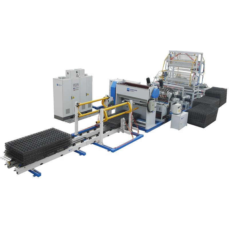 Full automatic mental reinforcing steel wire mesh panel making machine