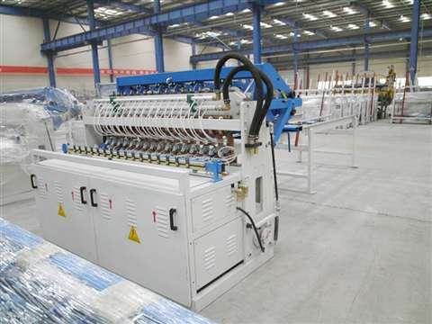 Security fence mesh welding production line
