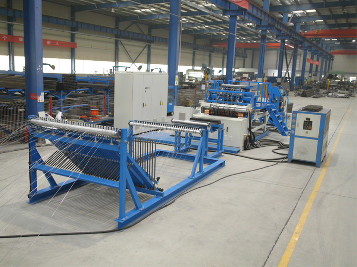 shelves wire mesh welded production line feature