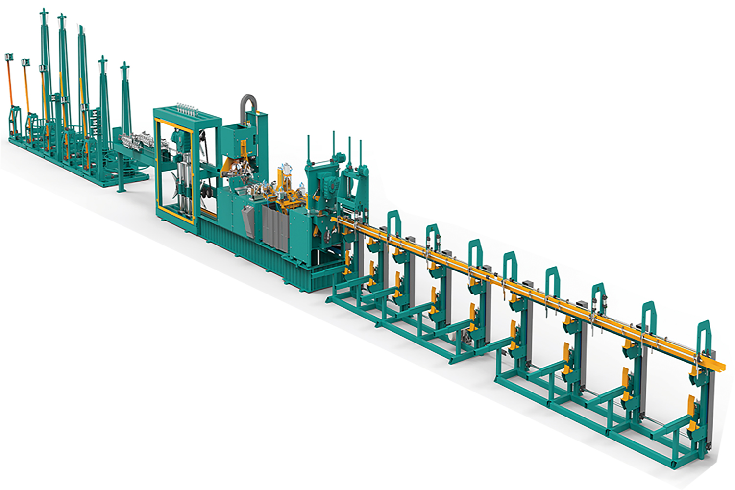 Steel truss production line